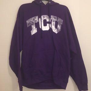 TCU Horned Frogs Hooded Sweatshirt NWT XL
